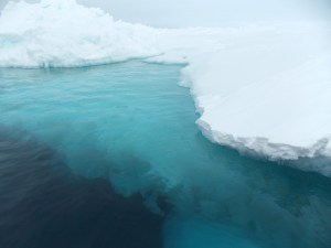 As global warming increases precipitation in the Weddell Sea, sea-ice patterns are changing and a deep sea current is shrinking. Credit: Image courtesy of University of Pennsylvania