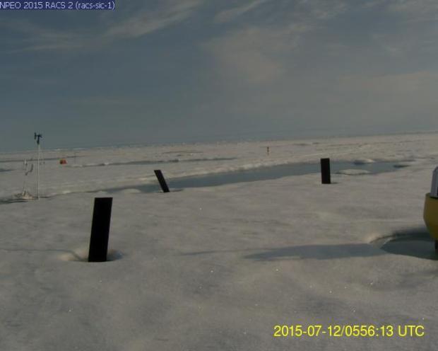 North Pole Web Cam Smoke Haze Melt Ponds