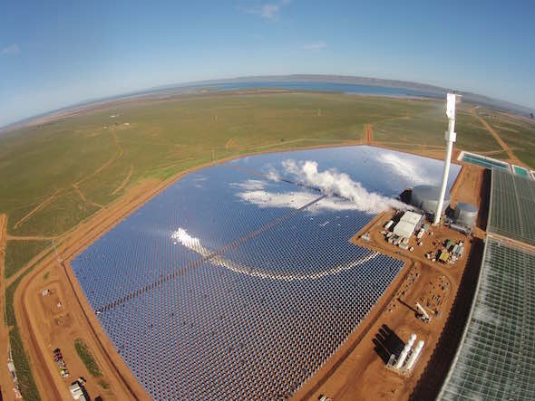 World First Concentrated Solar Power Plant Growing